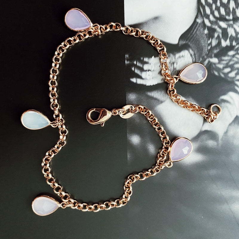 COCOA ARI - Pink Drip Anklet