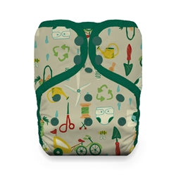 Snap Natural One Size Pocket - Green Scene