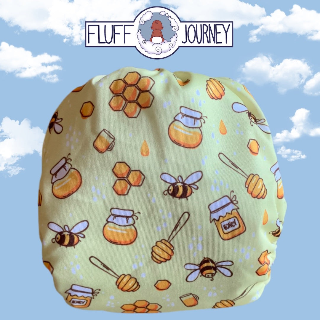 Fluff Journey Pocket Diaper- Busy Bees