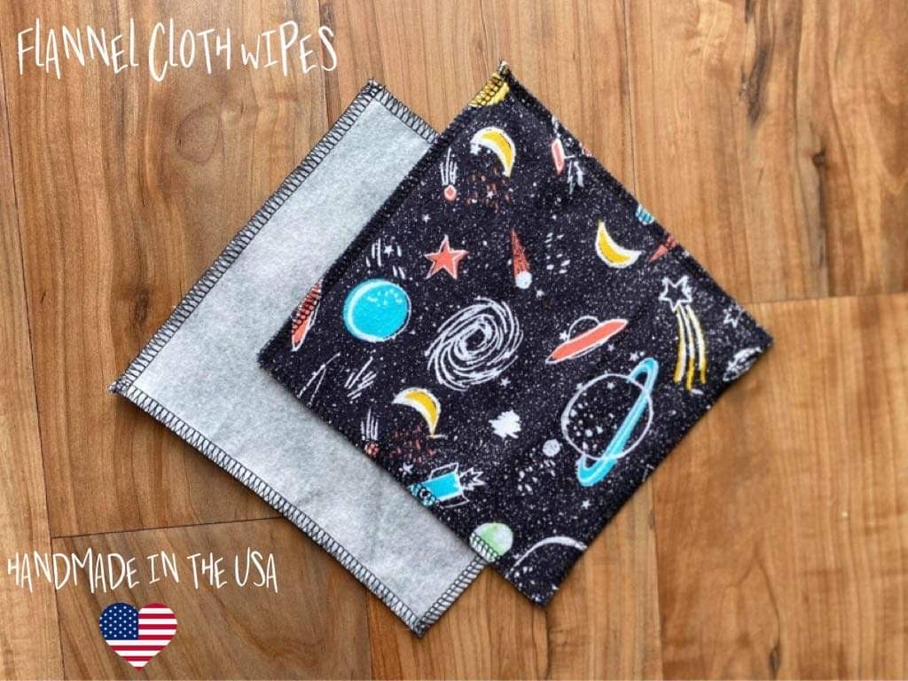 Outer Space - Cloth Wipes