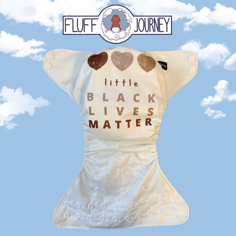Fluff Journey Pocket Diaper- Little Black Lives Matter