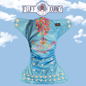 Fluff Journey Pocket Diaper- Adventure is out there