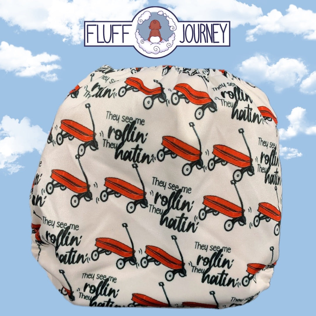 Fluff Journey Pocket Diaper- They See Me Rollin
