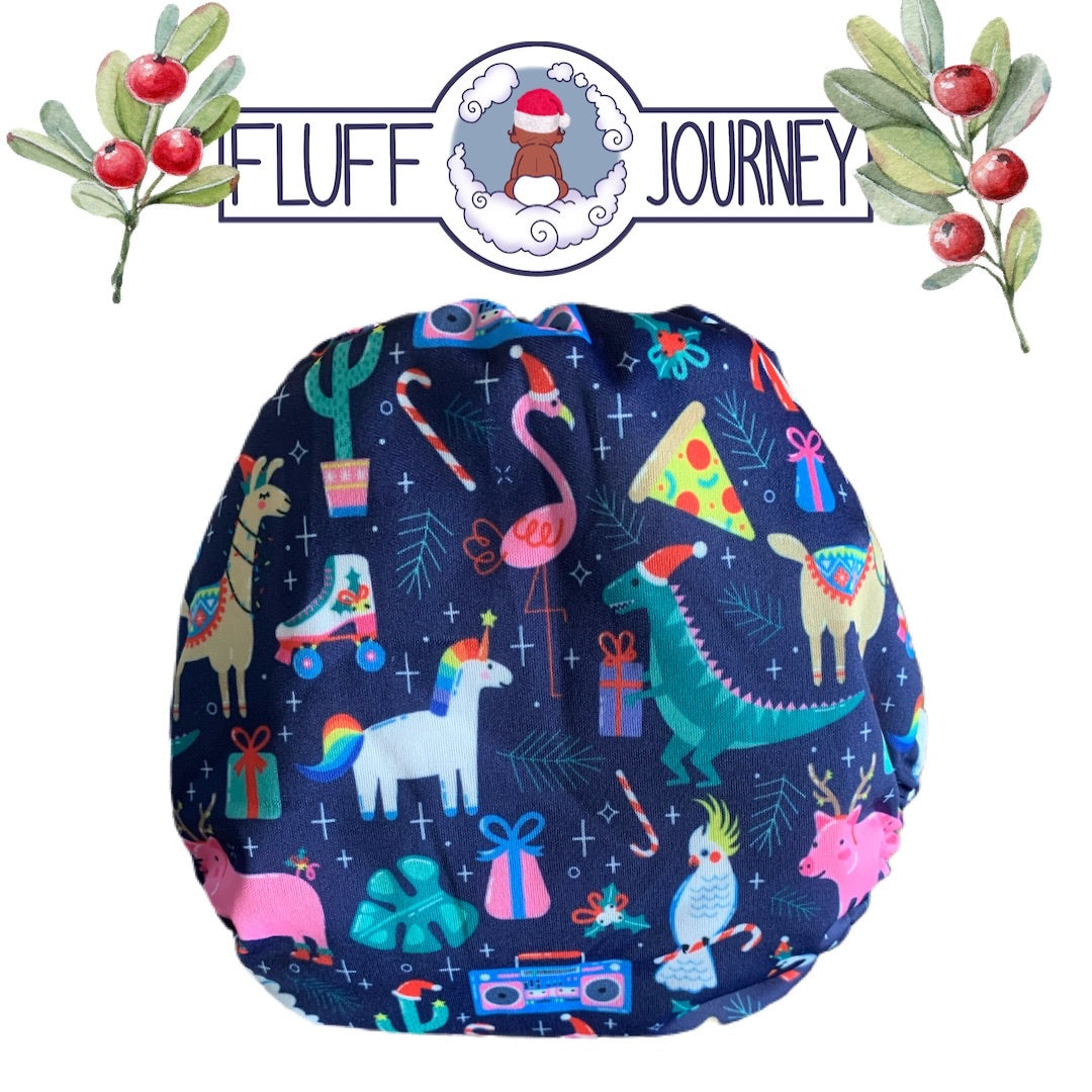 Fluff Journey Pocket Diaper- Holiday Party