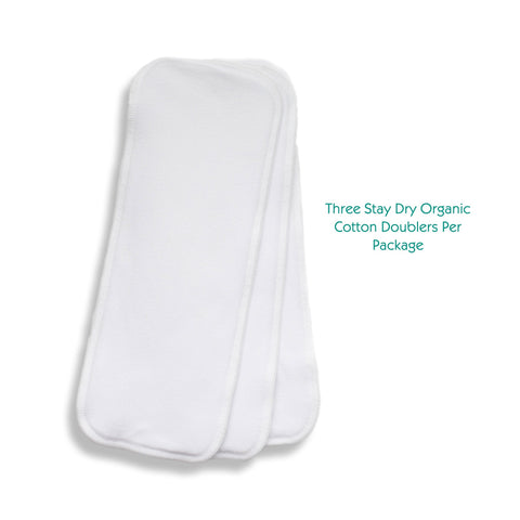 Stay Dry Organic Cotton Doubler (3 pk)