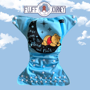 Fluff Journey Pocket Diaper- Love You To The Moon And Back