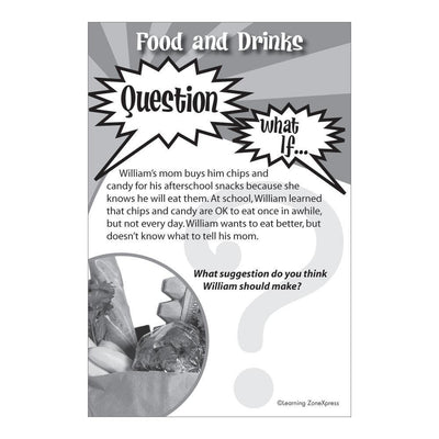 What If? Healthy Living Social Scenario Flashcards Grades 3-5