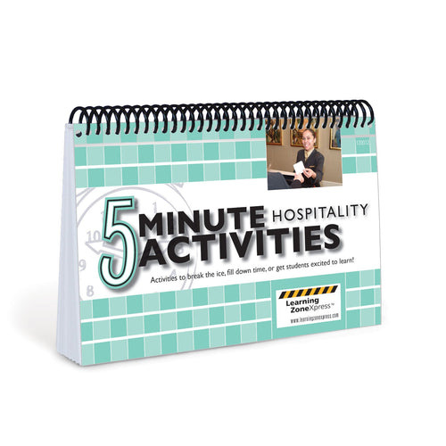 5 Minute Hospitality Activities