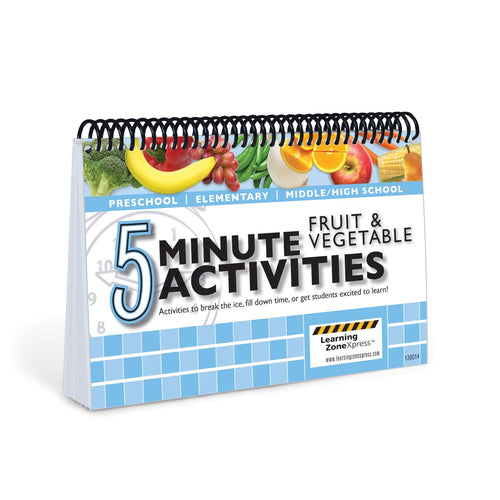 5 Minute Fruit & Vegetable Activities
