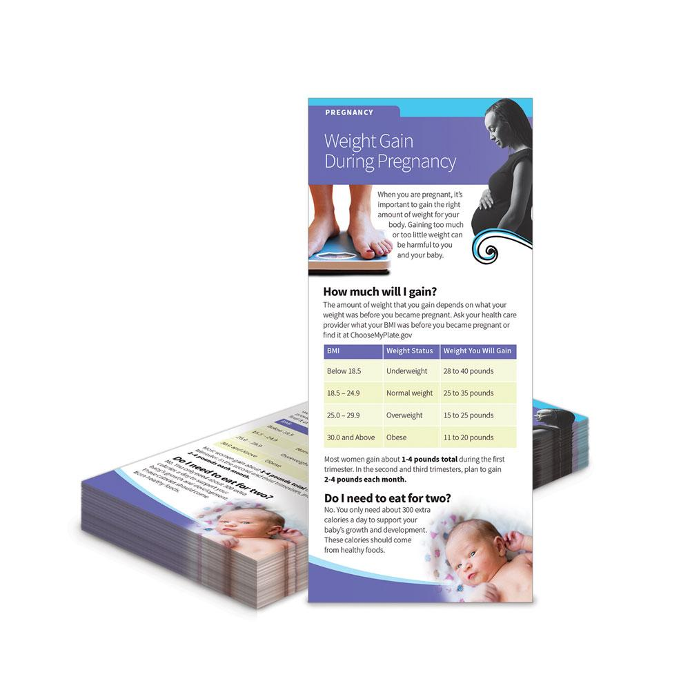 Weight Gain During Pregnancy Education Cards