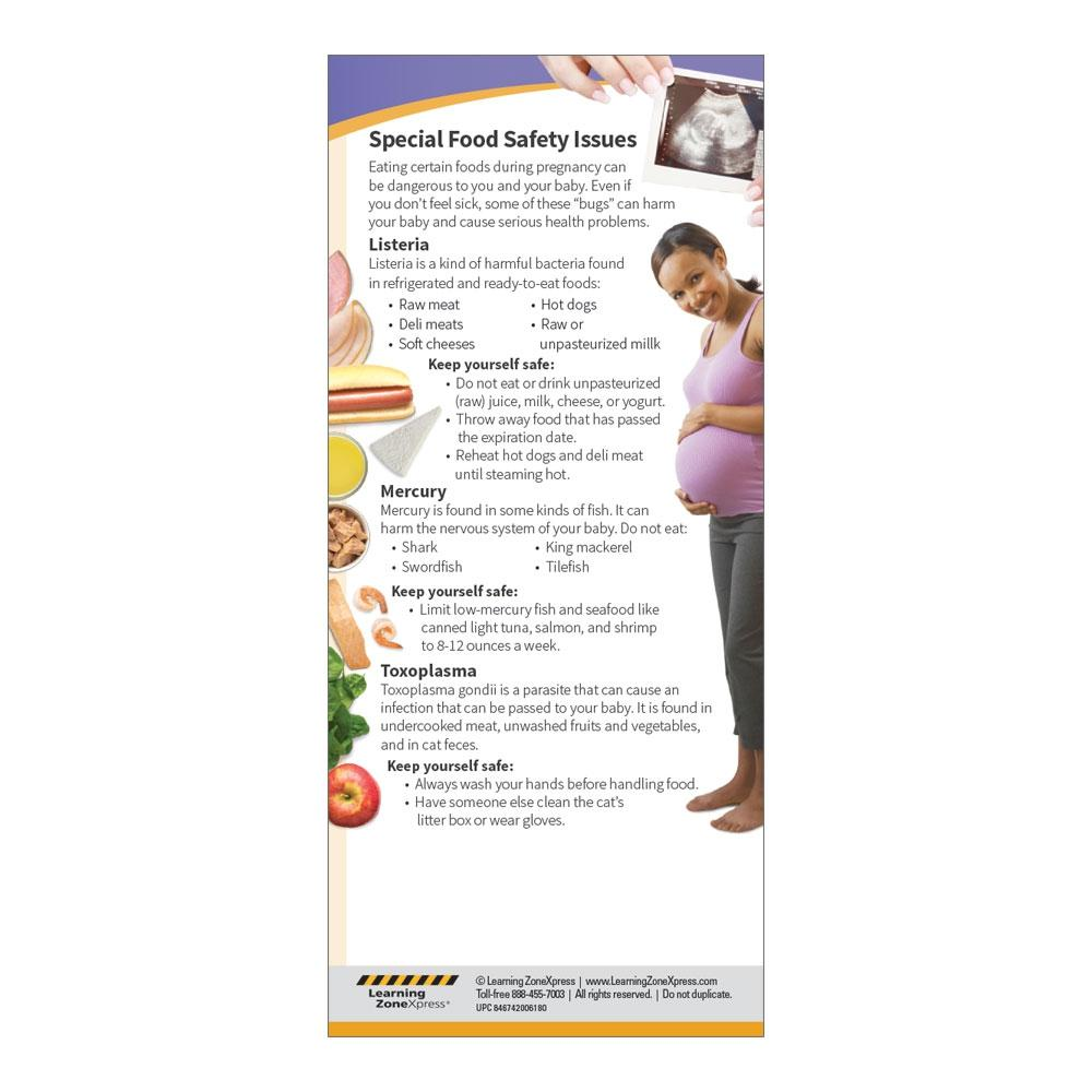 Food Safety for Expecting Moms Education Cards