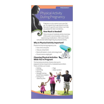 Physical Activity During Pregnancy Education Cards