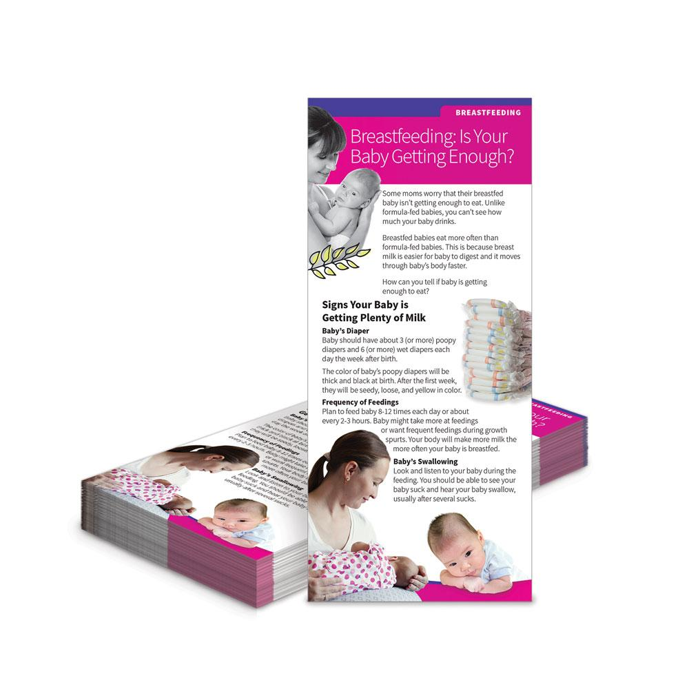 Breastfeeding:  Is Your Baby Getting Enough?  Education Cards