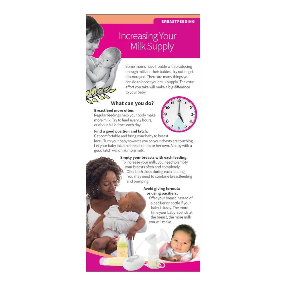 Increasing Your Milk Supply Breastfeeding Education Cards
