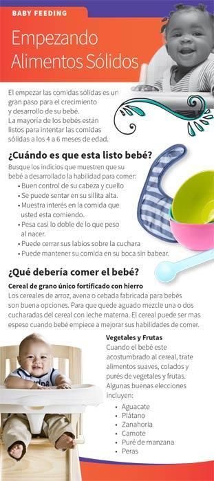 Starting Solid Foods Spanish Education Cards