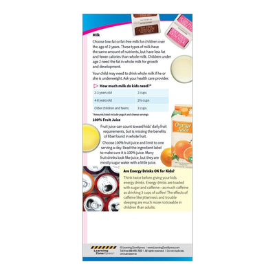 Healthy Beverages for Kids Education Cards