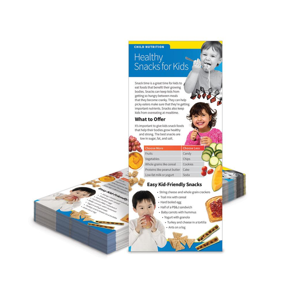 Healthy Snacks for Kids Education Cards