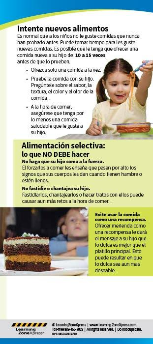 Picky Eating Spanish Education Cards