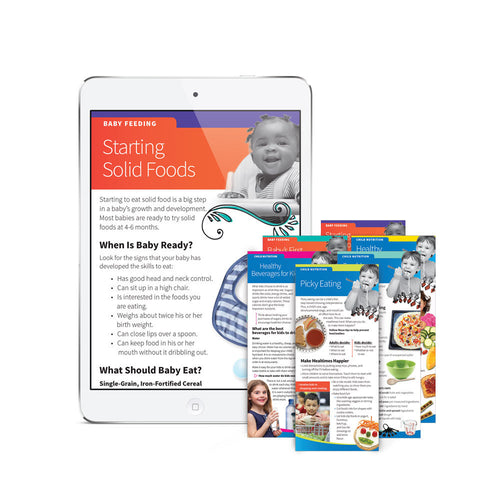 Baby & Child Nutrition Education Cards Digital Subscription
