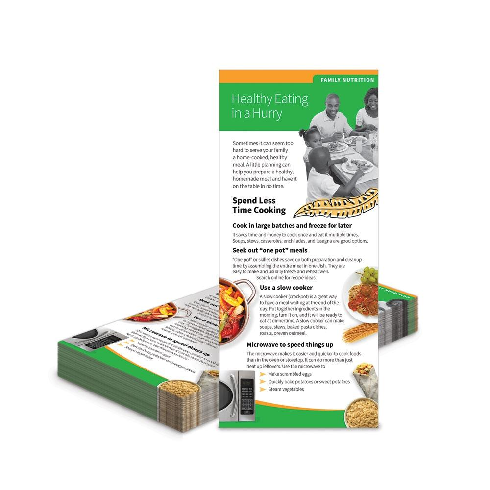 Healthy Eating in a Hurry Education Cards
