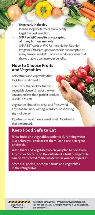 Shop Smart at the Farmers Market Education Cards