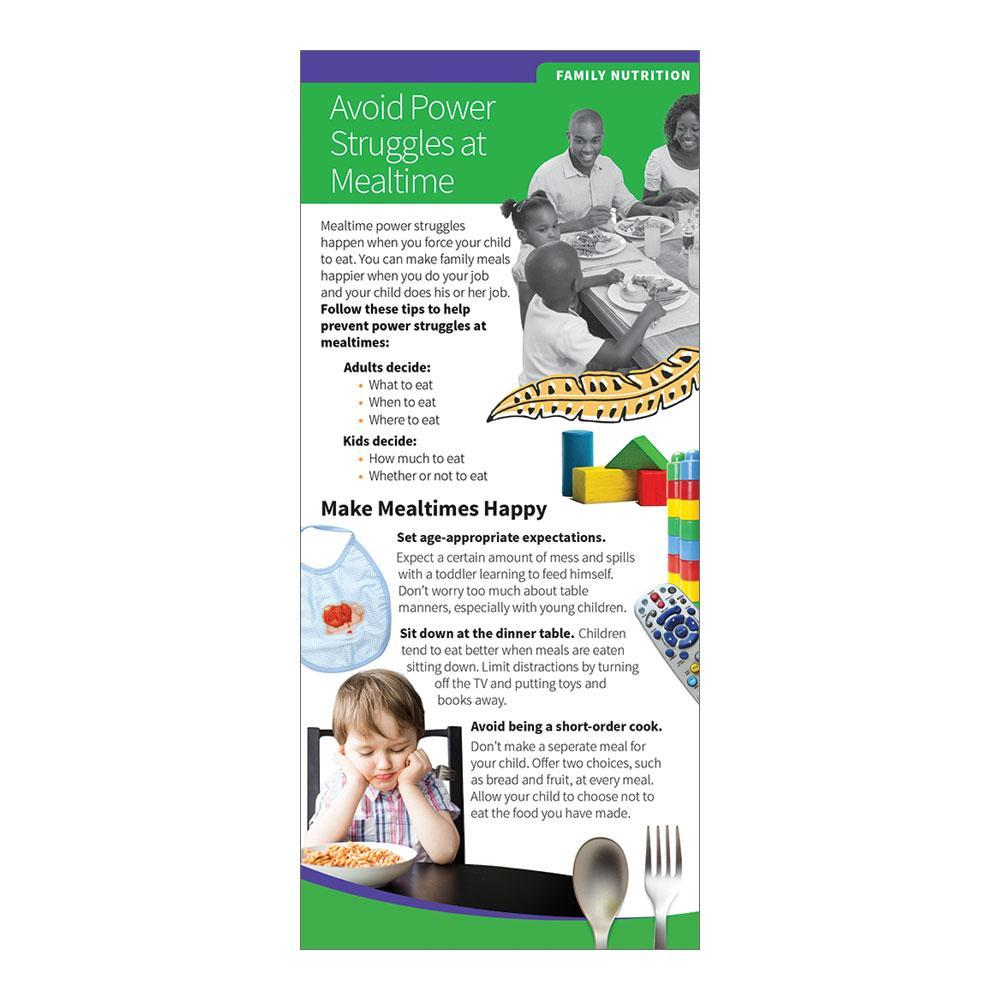 Avoid Power Struggles at Mealtime Education Cards