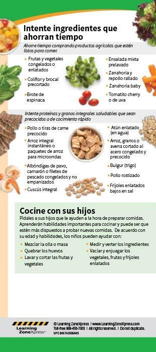 Healthy Eating in a Hurry Spanish Education Cards