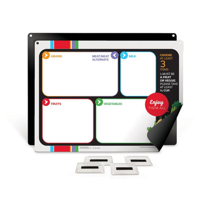 Garden Heroes® Easy Mag-Mount Menu Board with Magnetic Vinyl Pockets