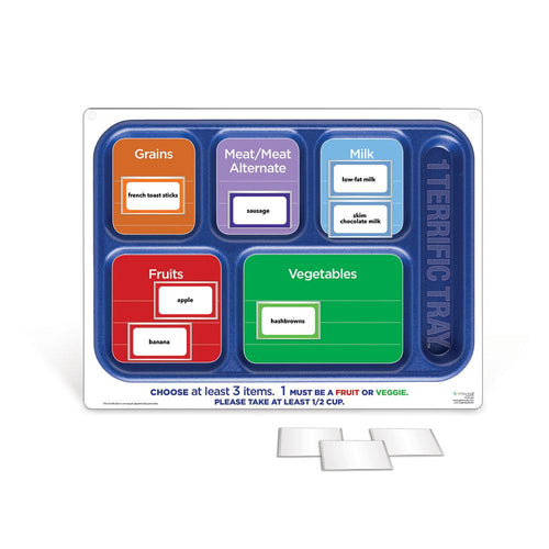 1 Terrific Tray™ Easy Mag-Mount Menu Board with Magnetic Vinyl Pockets