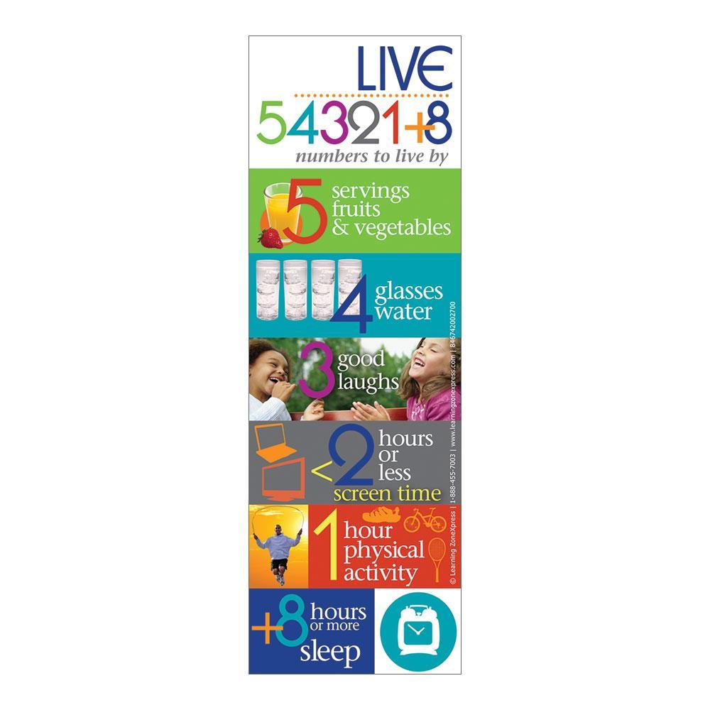 Live 54321+8 Magnet for Healthy Lifestyle