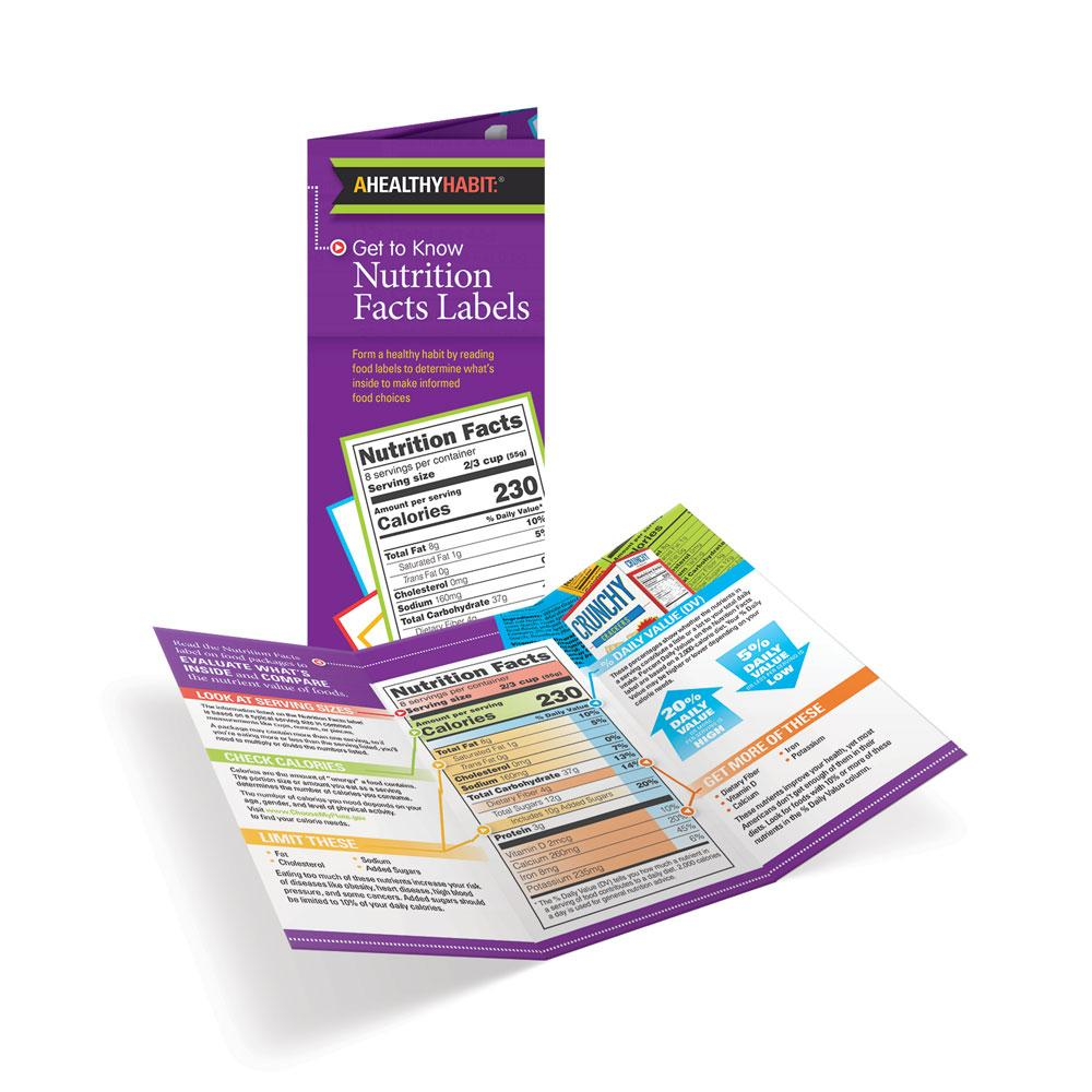 Get to Know Nutrition Facts Labels Tri-Fold Brochure