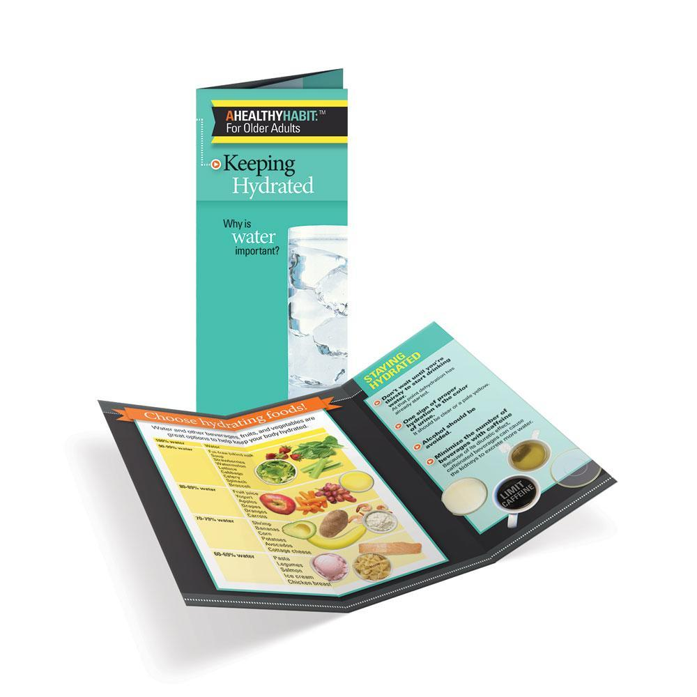 Keeping Hydrated for Older Adults Tri-Fold Brochures