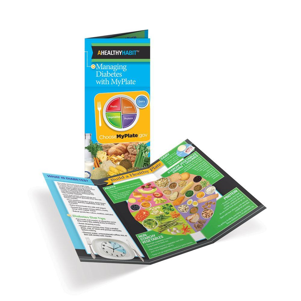 Diabetes MyPlate Tri-Fold Brochures