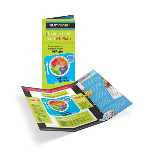 Eating Well With MyPlate Spanish Tri-Fold Brochures