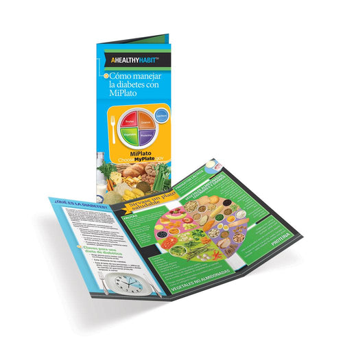 Diabetes MyPlate Spanish Tri-Fold Brochures