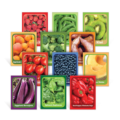 Fruit & Vegetable Senses Oversized Flash Cards