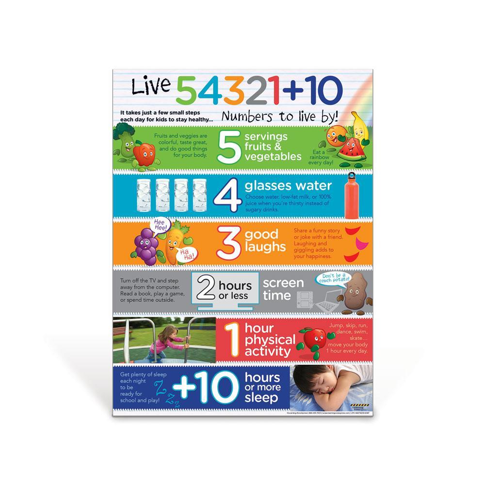 Live 54321+10® for Kids Poster