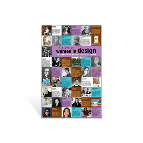 History of Women in Design Poster