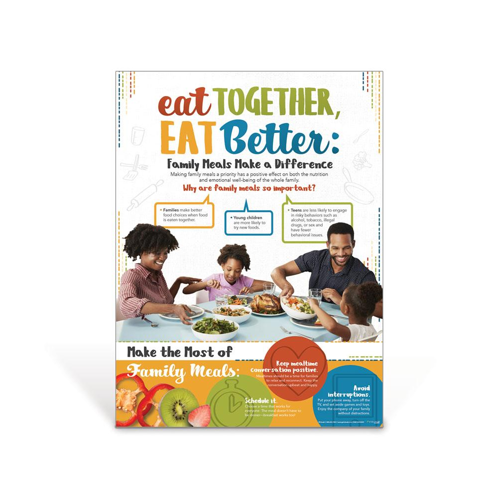 Eat Together Eat Better Family Meals Poster