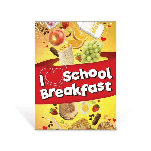 I Heart School Breakfast Poster