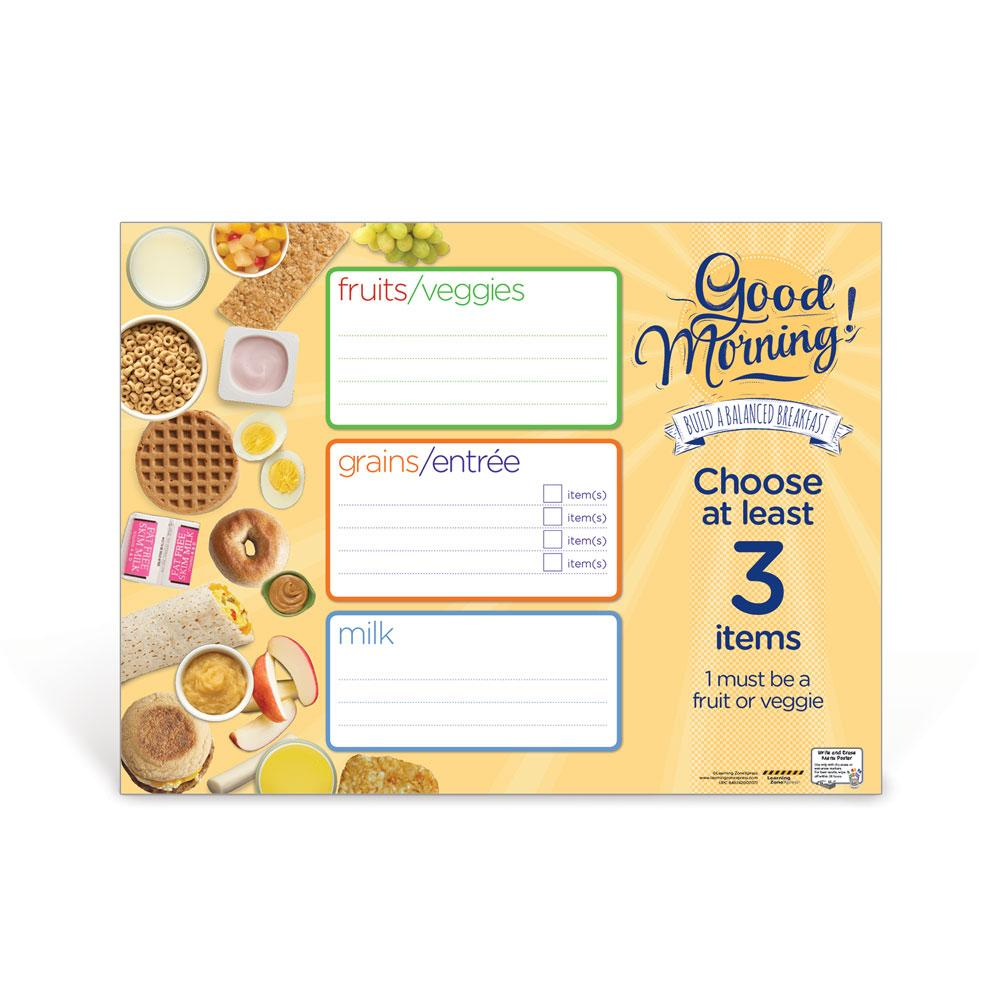 Breakfast Dry Erase Menu Poster