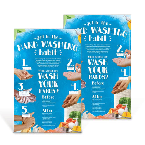 Hand Washing Habits Poster