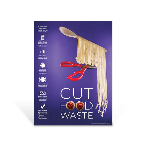 Cut Food Waste Poster