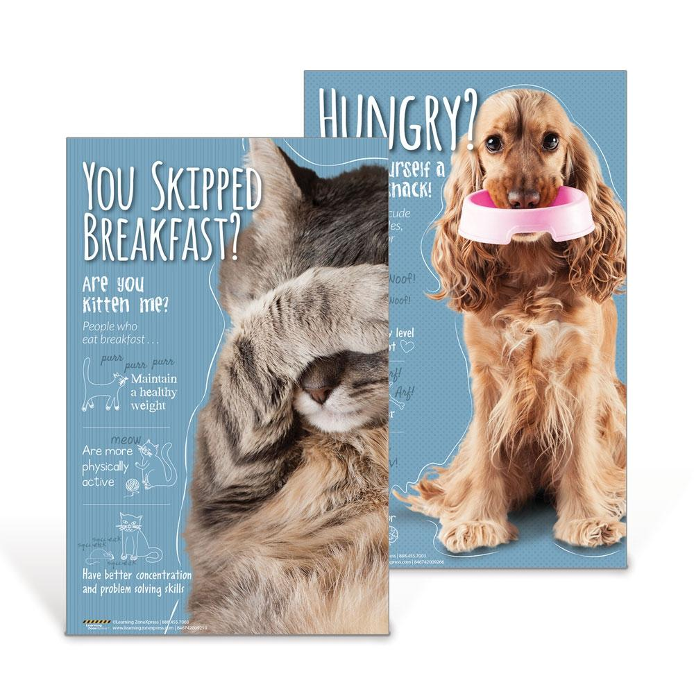 Cat and Dog Nutrition Poster Set