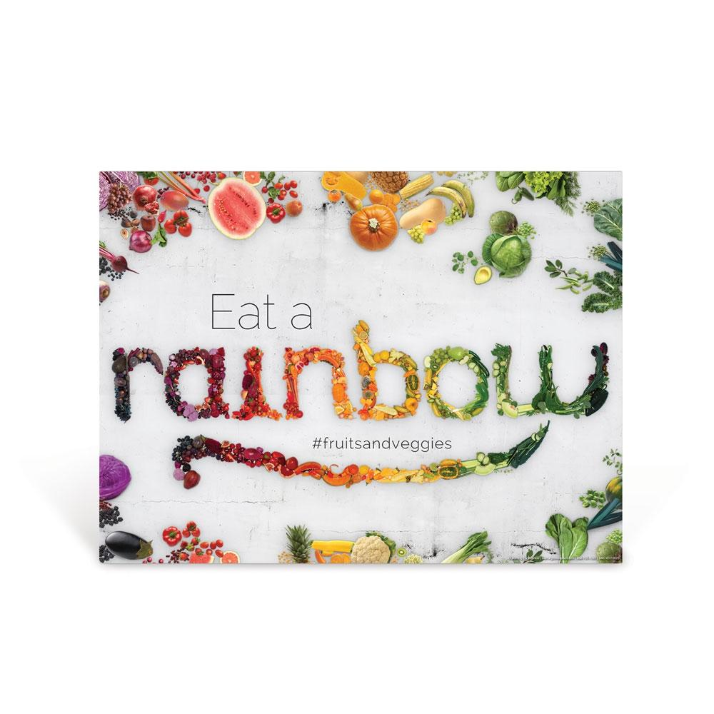 Eat a Food Rainbow Poster