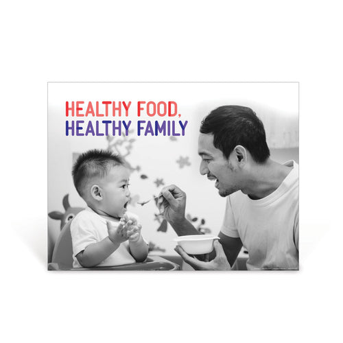 Healthy Food, Healthy Family Poster