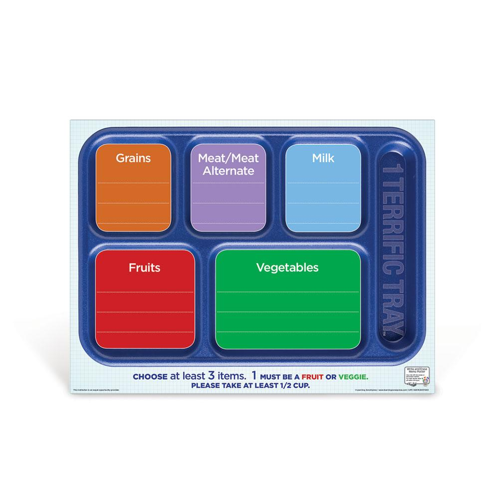 1 Terrific Tray™ Dry Erase Menu Poster
