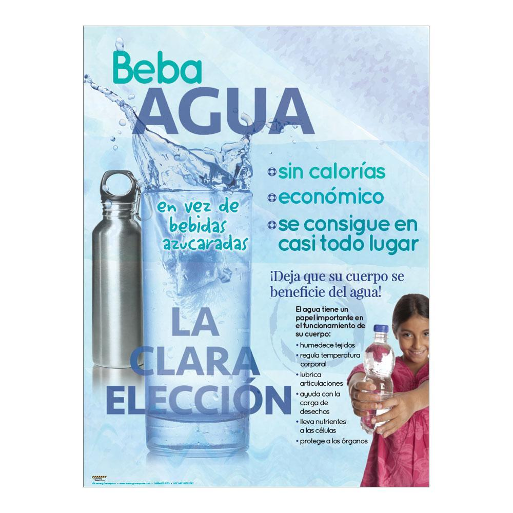 Drink Water Spanish Poster