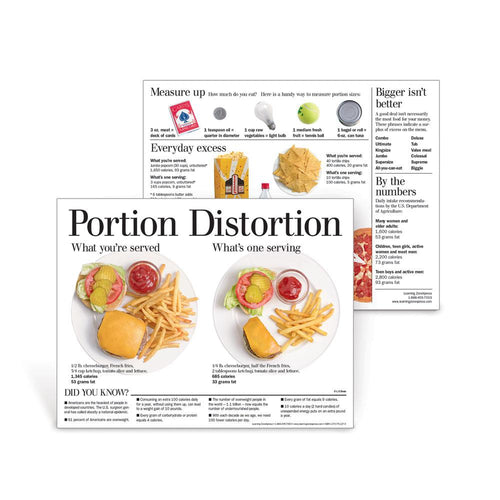 Portion Distortion Handouts