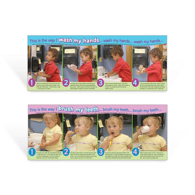 Hand Washing and Brushing Teeth For Kids Posters